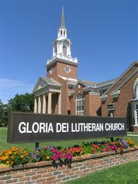 Gloria Dei Lutheran Church, west entrance